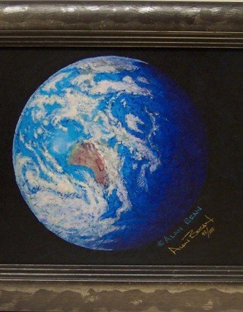 A Jewel in the Heavens by Alan Bean, framed giclee canvas