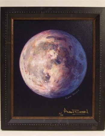 A Most Beautiful Moon by Alan Bean, framed giclee