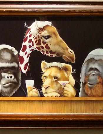 Bar Exam by Will Bullas framed giclee canvas