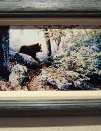 Along the North Ridge by Linda Daniels, framed small giclee canvas
