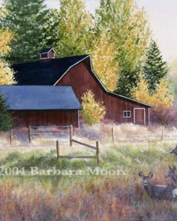 Autumn Visitors by Barbara Moore