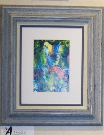 An original framed acrylic abstract