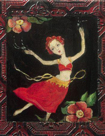 Dance by Cassandra Barney, an open giclee framed