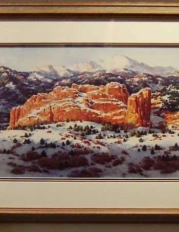 Winter Gold Pikes Peak by Joseph Bohler
