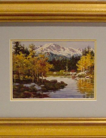 Autumn Reflections by Joseph Bohler open edition framed print