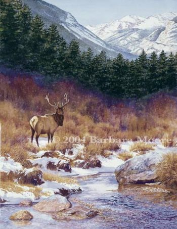At the Edge of the Stream by Barbara Moore