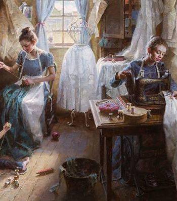 Dressmakers Shop 1886 by Morgan Weistling
